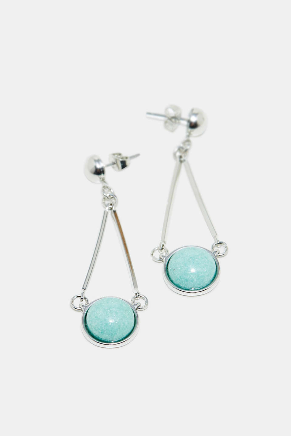 Esprit - Long earrings with decorative gemstones