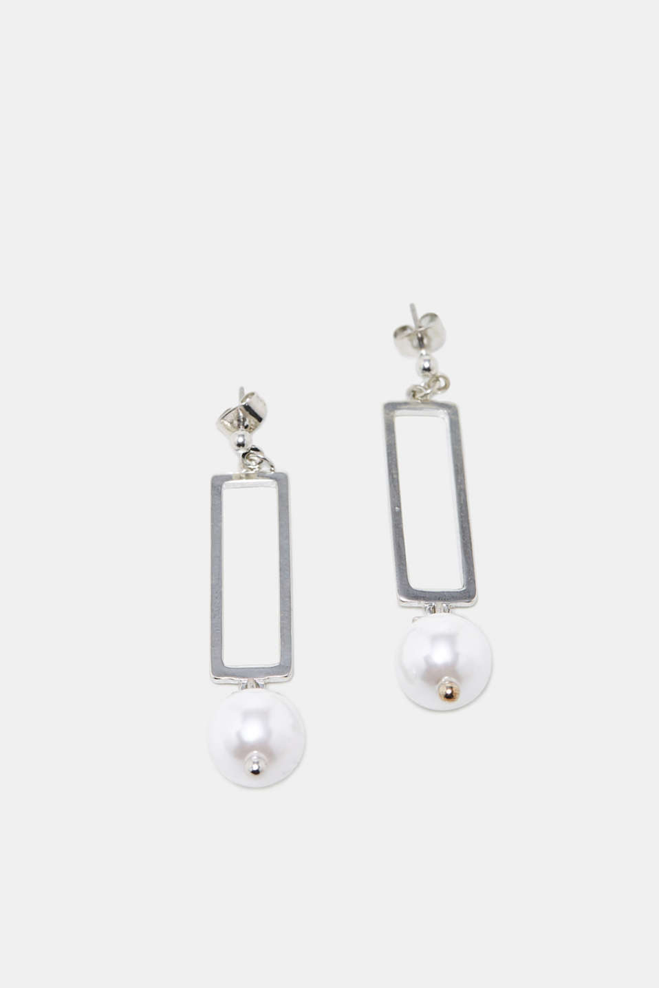 Esprit - Metal earrings with a bead
