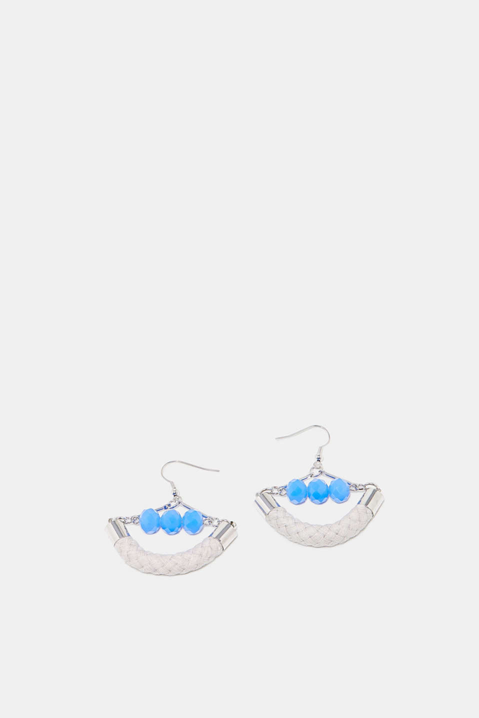Esprit - Earrings with rope and small beads