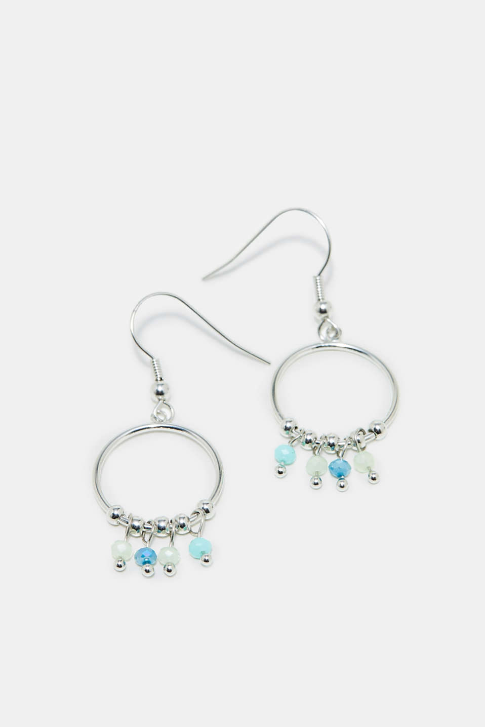 Esprit - Earrings with hoops and gemstones