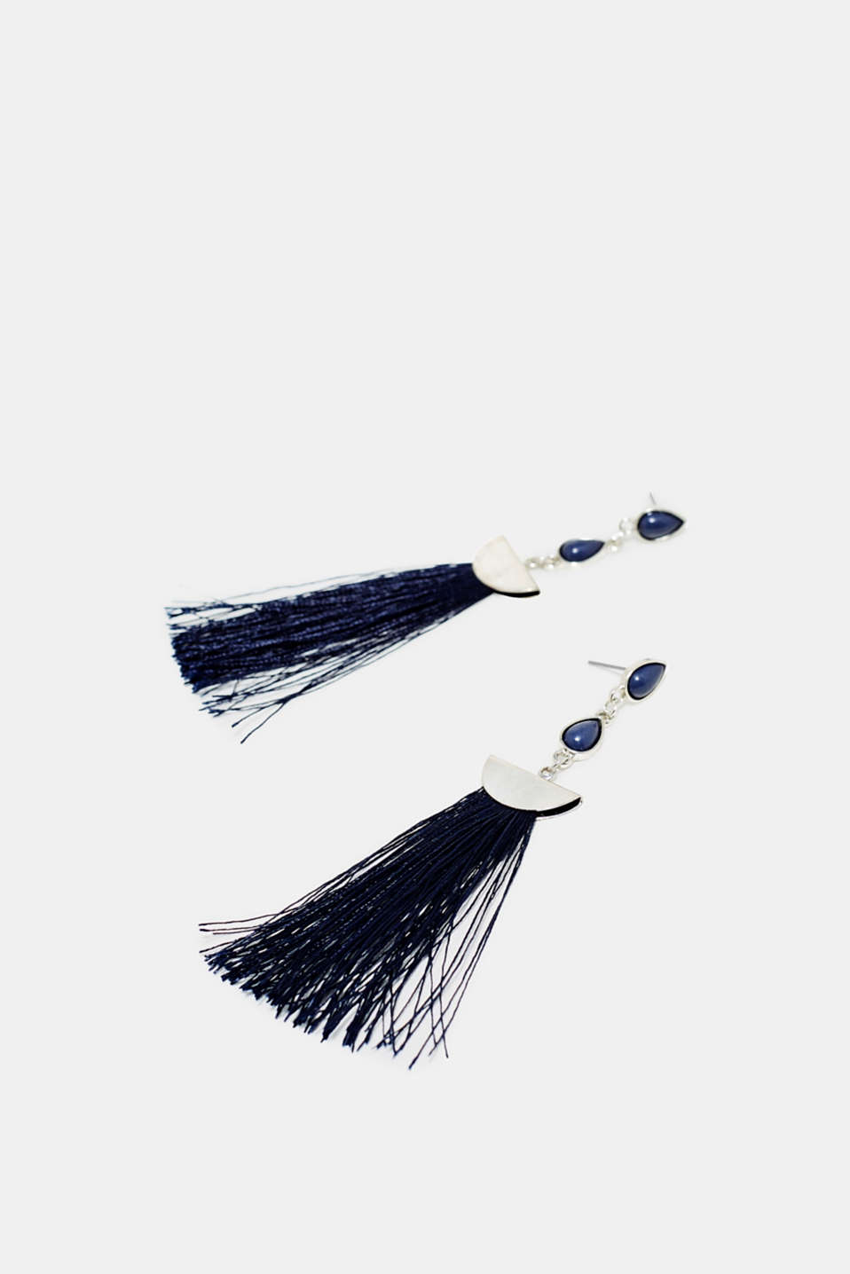 Earrings with fringing