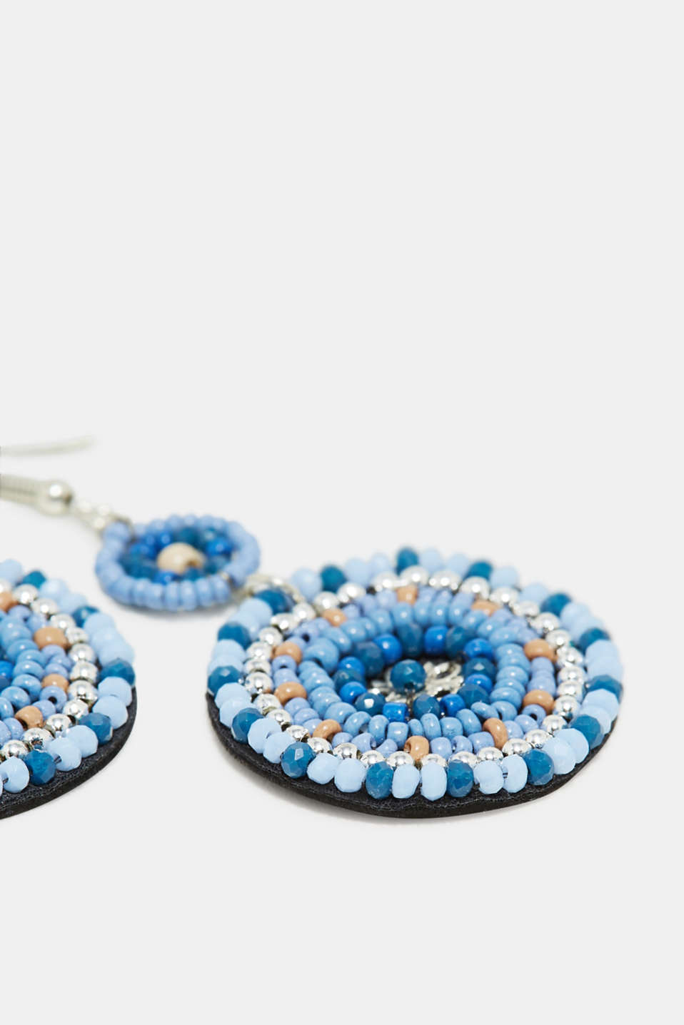 Earrings with bead embellishments