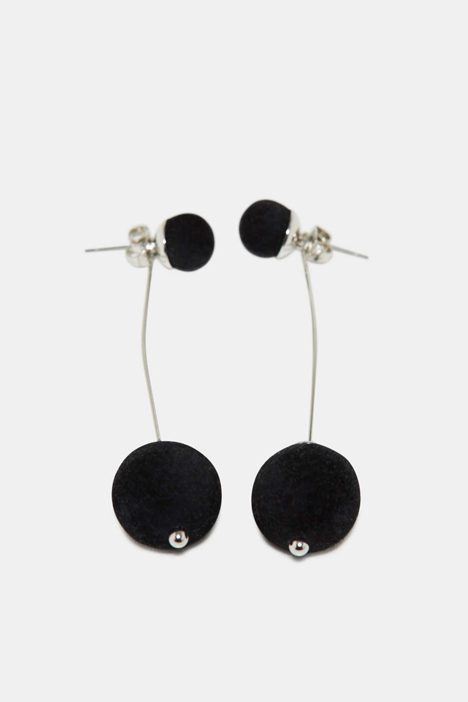 Esprit - Earrings with velvet beads