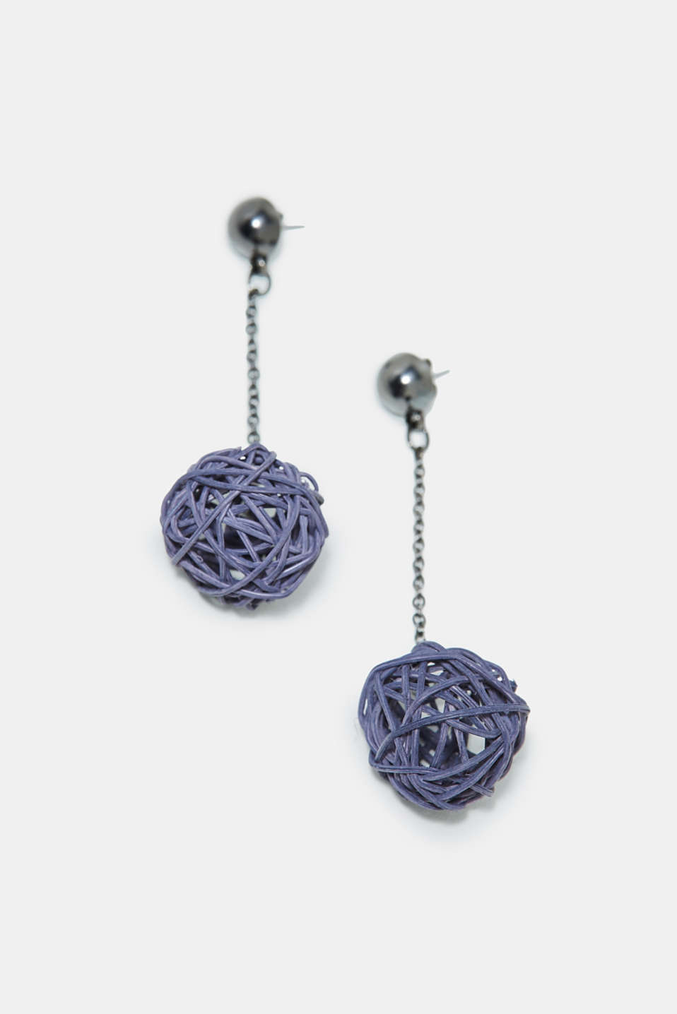 Esprit - Earrings with braided straw beads
