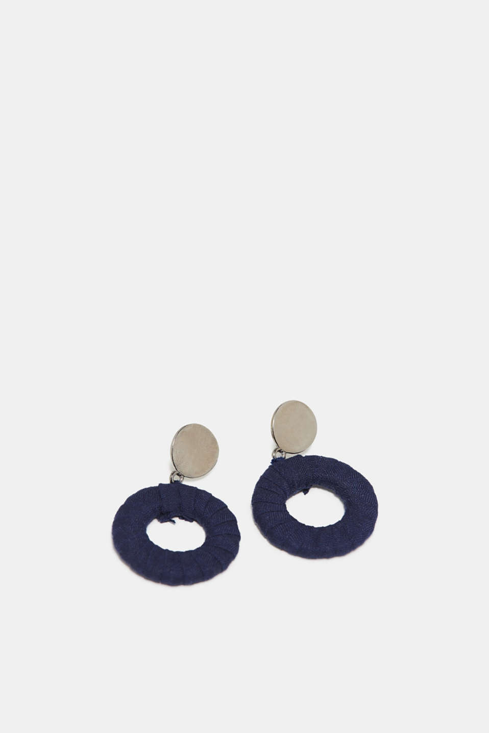 Esprit - Earrings with a fabric trim