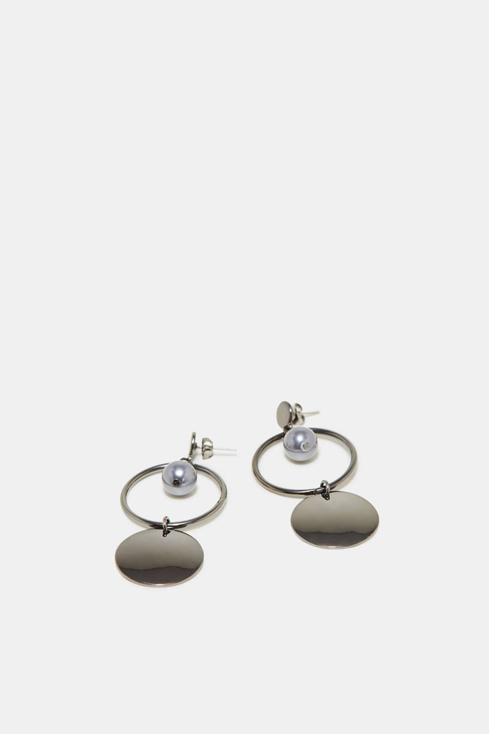 Esprit - Pearl and pendant earrings