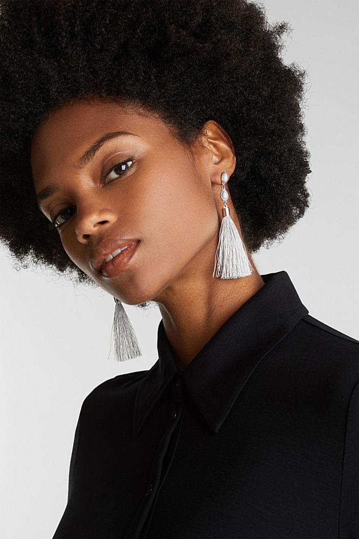 Tassel earrings, ONE COLOUR, detail image number 2
