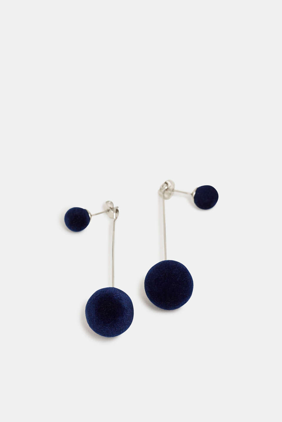Esprit - Stud earrings with velvet beads
