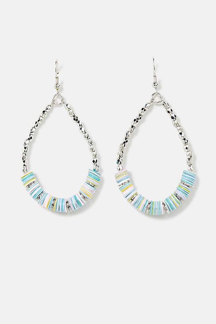 Oval bead dangle earrings