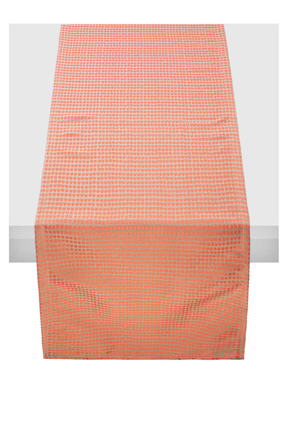 Esprit - Table runner with an in-woven dot pattern