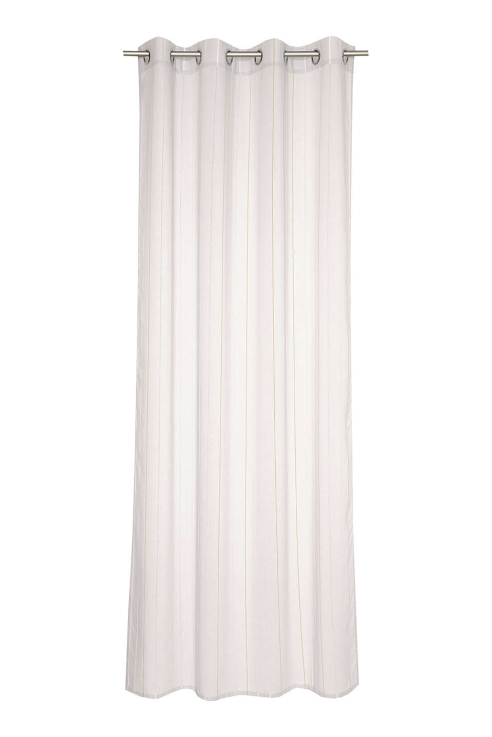 Esprit - Woven eyelet curtain + contrasting stripes