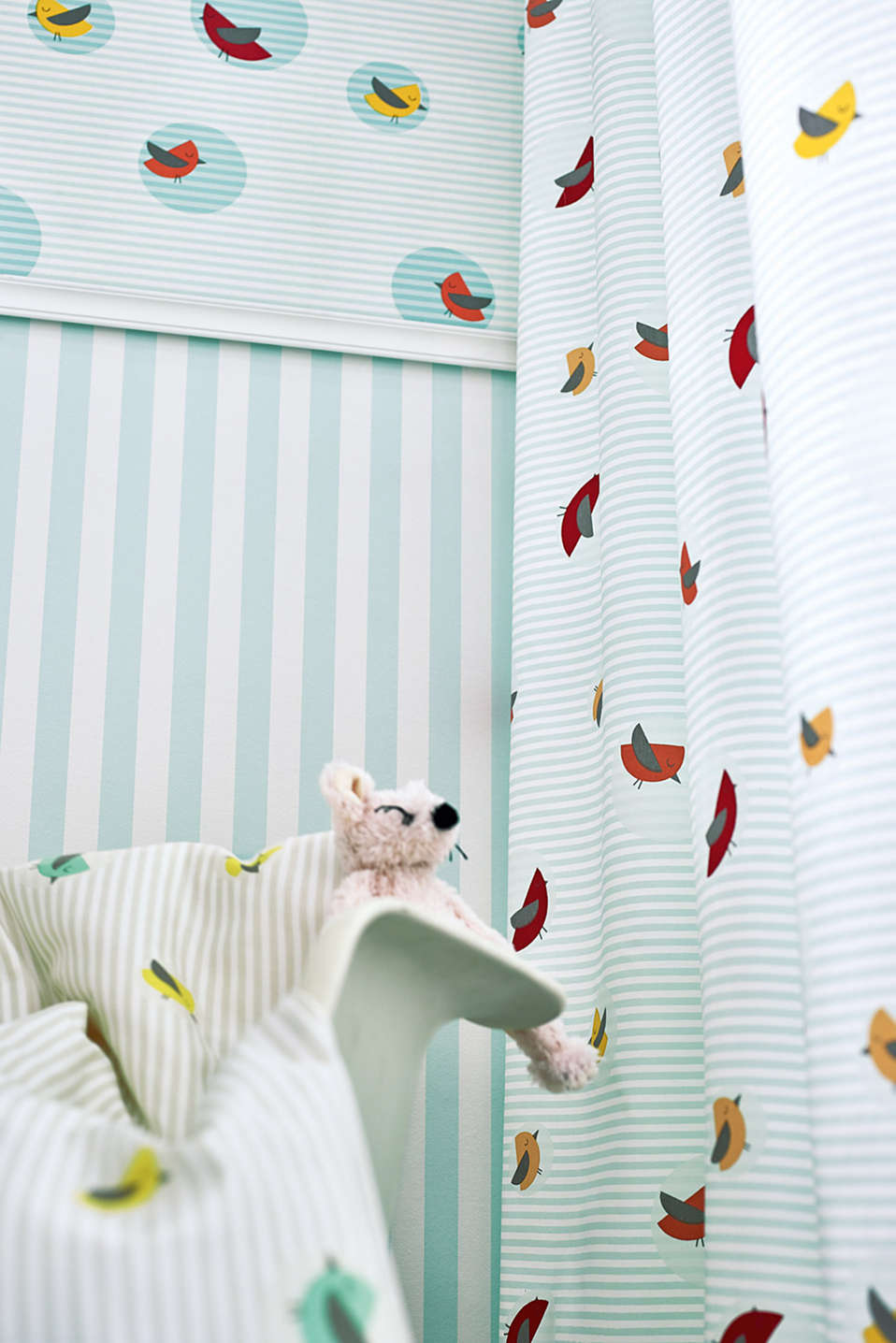 Kids tab top curtain, blended cotton, MULTICOLOUR, detail image number 1