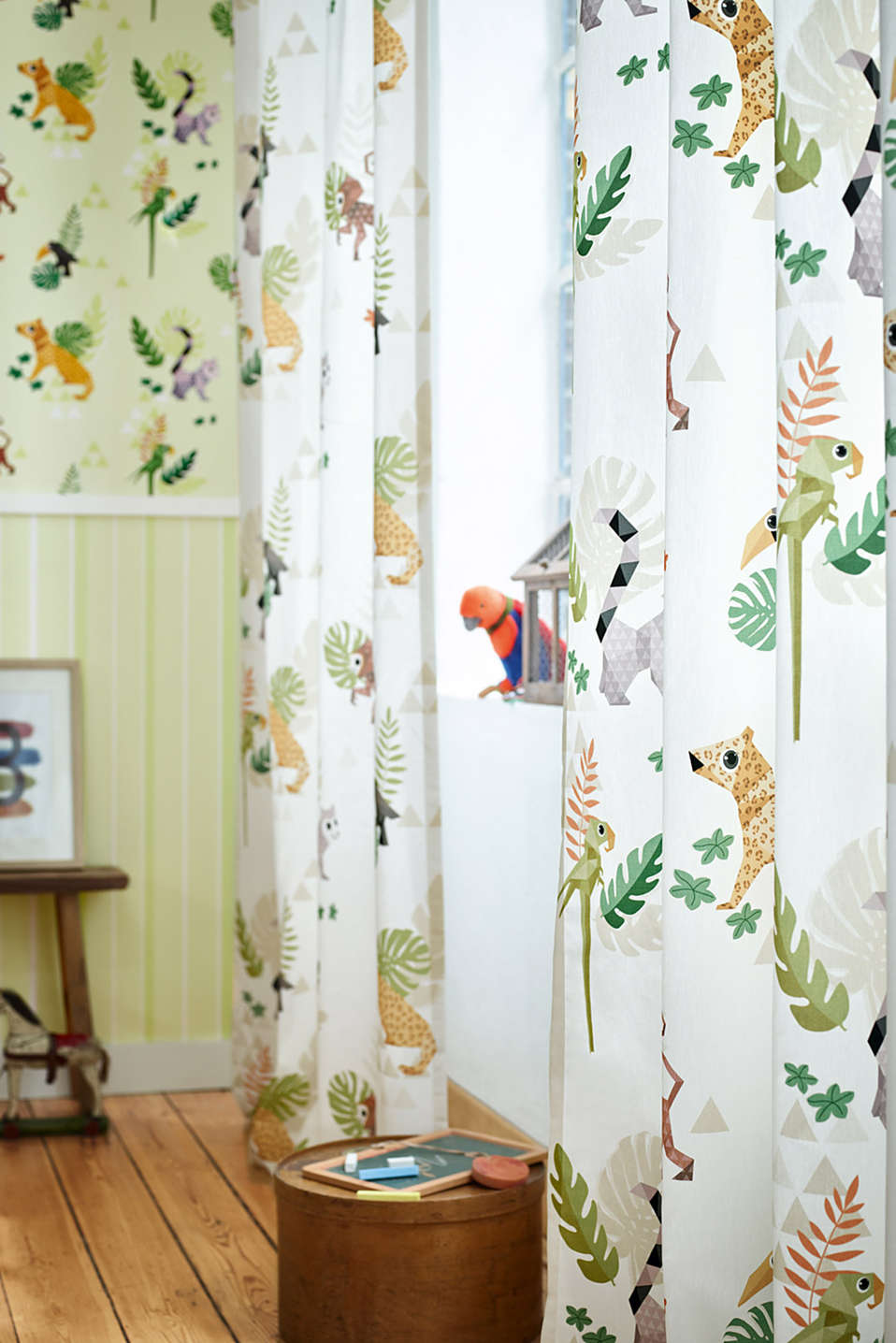 Kids tab top curtain, blended cotton
