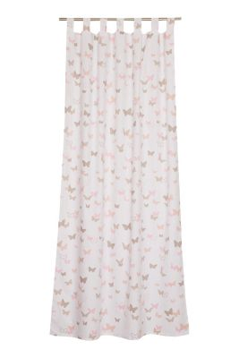 Kids tab top curtain, blended cotton, PINK, detail