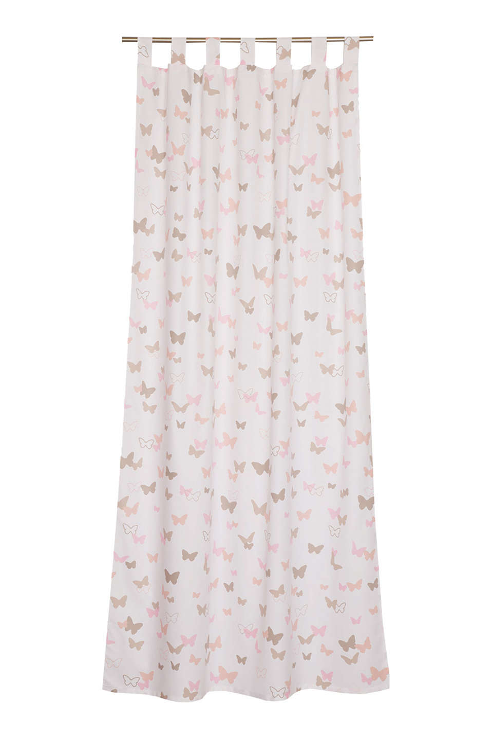 Kids tab top curtain, blended cotton, PINK, detail image number 0