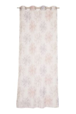 Delicate, printed voile eyelet curtain, MULTICOLOUR, detail