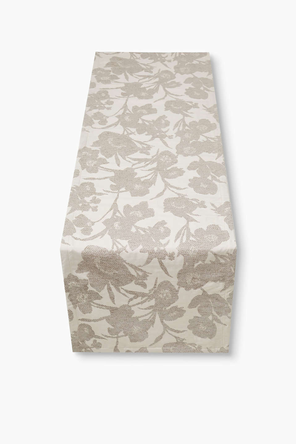 Esprit - Silus floral woven table runner