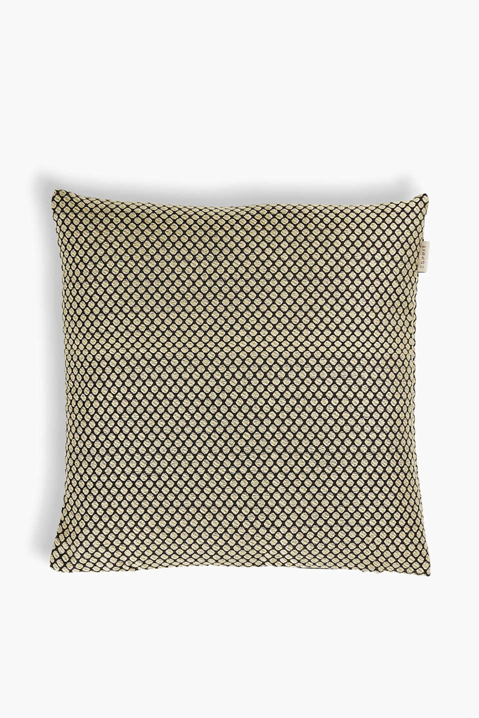 Esprit - Woven cushion cover + golden polka dots