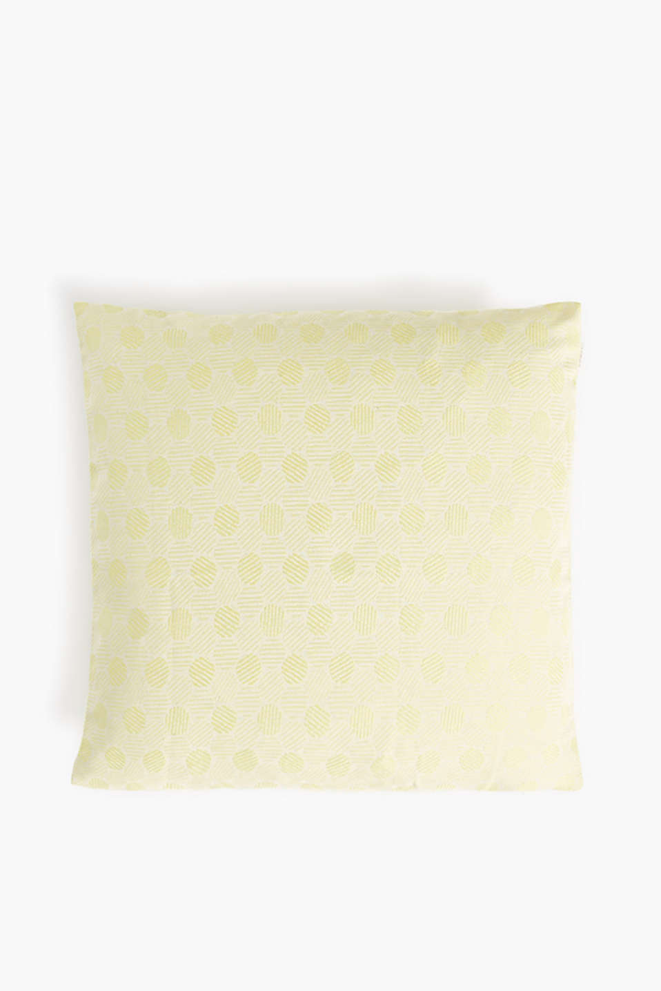 Woven cushion cover in a polka dot pattern, LIME, detail image number 0