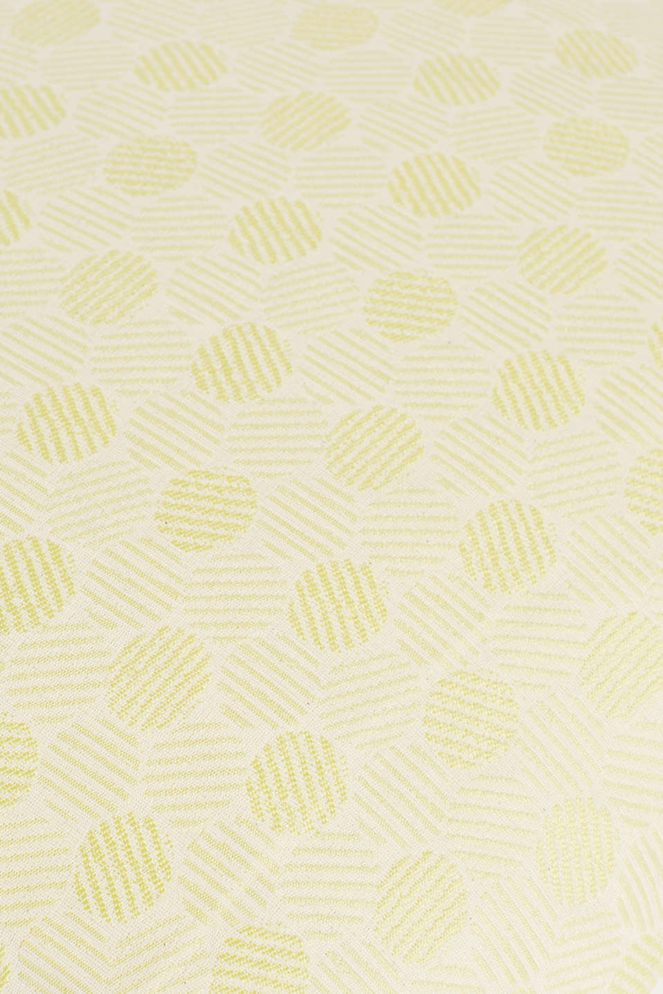 Woven cushion cover in a polka dot pattern, LIME, detail image number 1