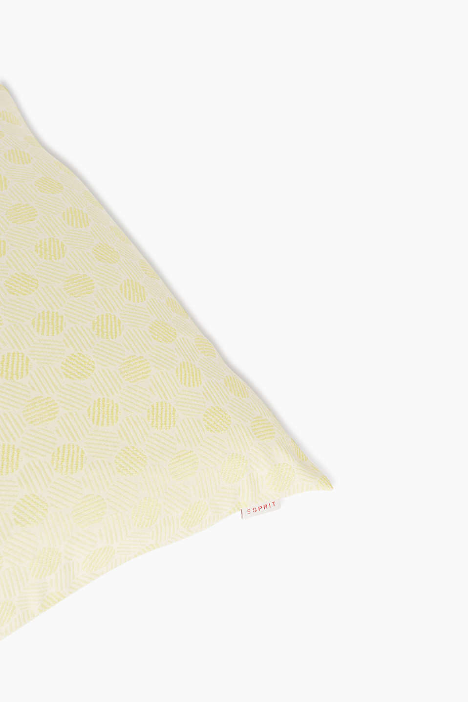 Woven cushion cover in a polka dot pattern, LIME, detail image number 2