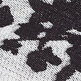 Reversible blanket with a floral pattern, BLACK, swatch