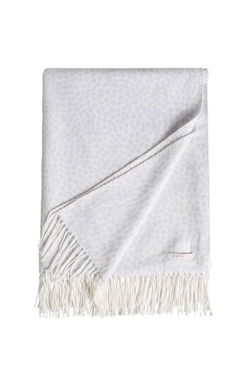 Esprit - Soft woven reversible blanket with fringing