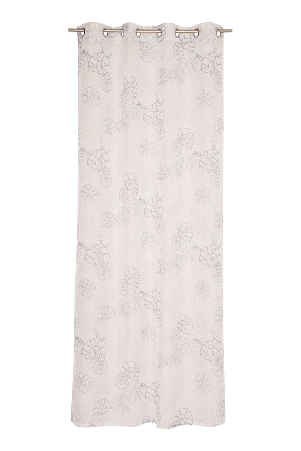 Esprit - Voile eyelet curtain with a digital print