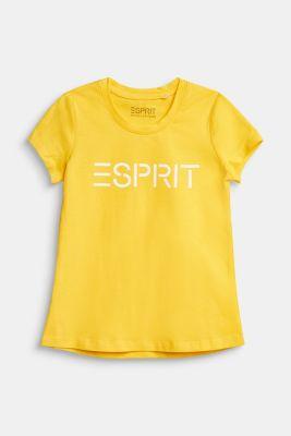 Logo print T-shirt in 100% cotton, YELLOW, detail