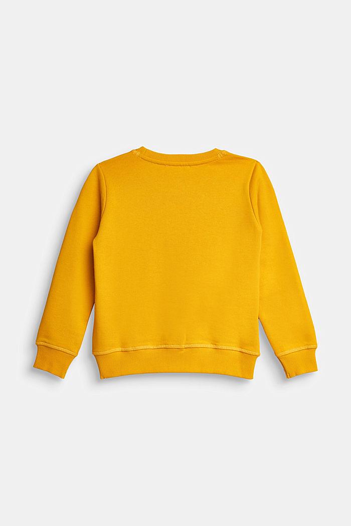 Logo sweatshirt, 100% cotton, AMBER YELLOW, detail image number 1