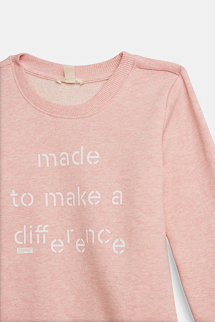 Recycled: sweatshirt in 100% cotton, PASTEL PINK, detail image number 2