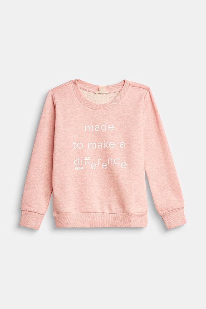Recycelt: Sweatshirt aus 100% Baumwolle