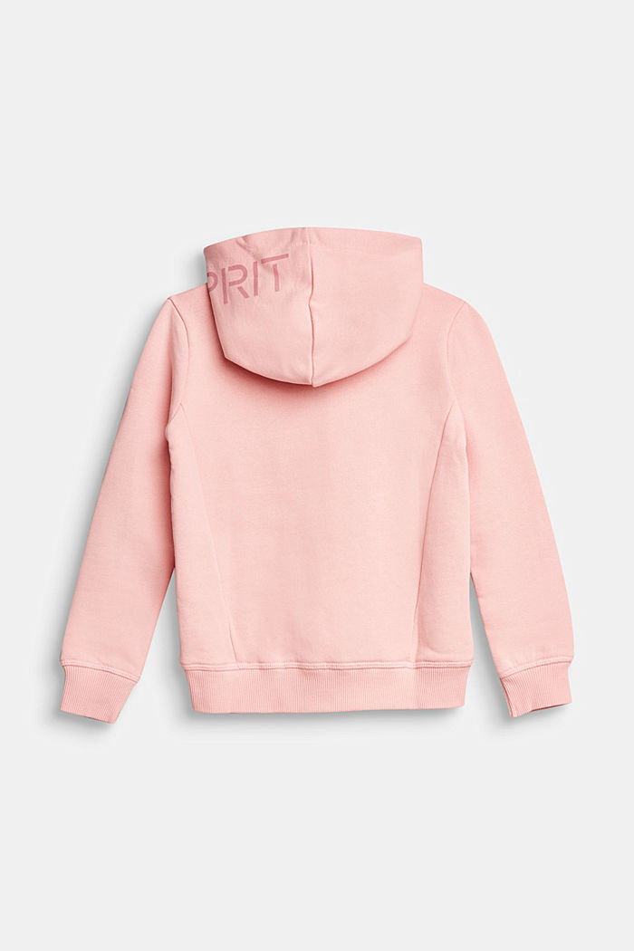 Sweatshirt cardigan in 100% cotton, LIGHT PINK, detail image number 1