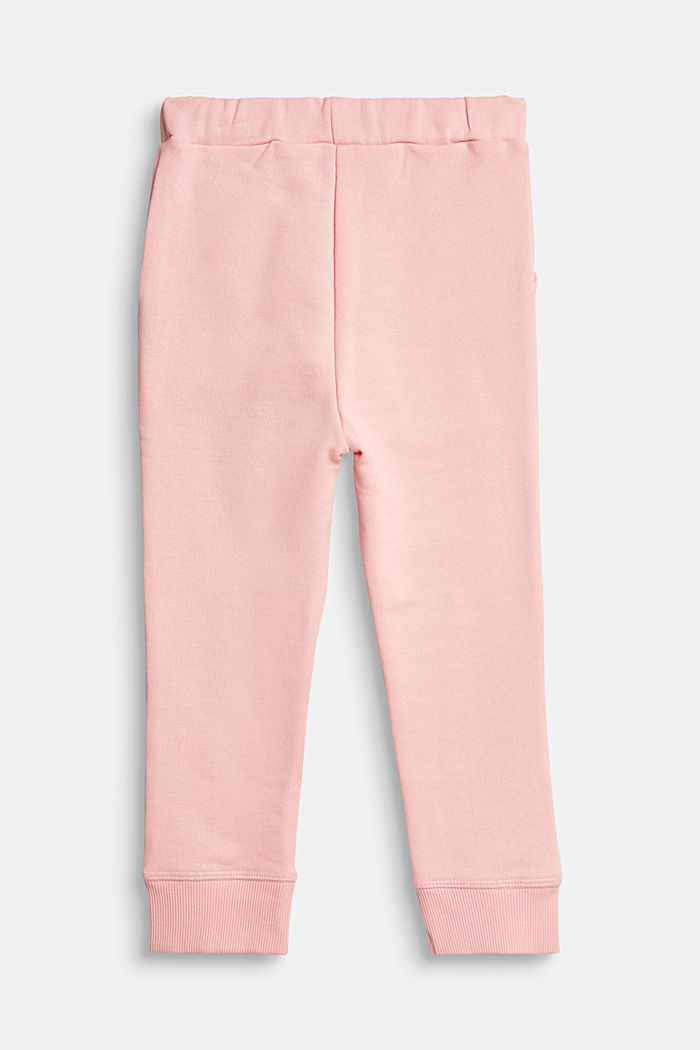 Tracksuit bottoms in 100% cotton, LIGHT PINK, detail image number 1