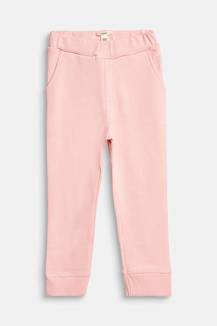 Tracksuit bottoms in 100% cotton, LIGHT PINK, detail image number 0