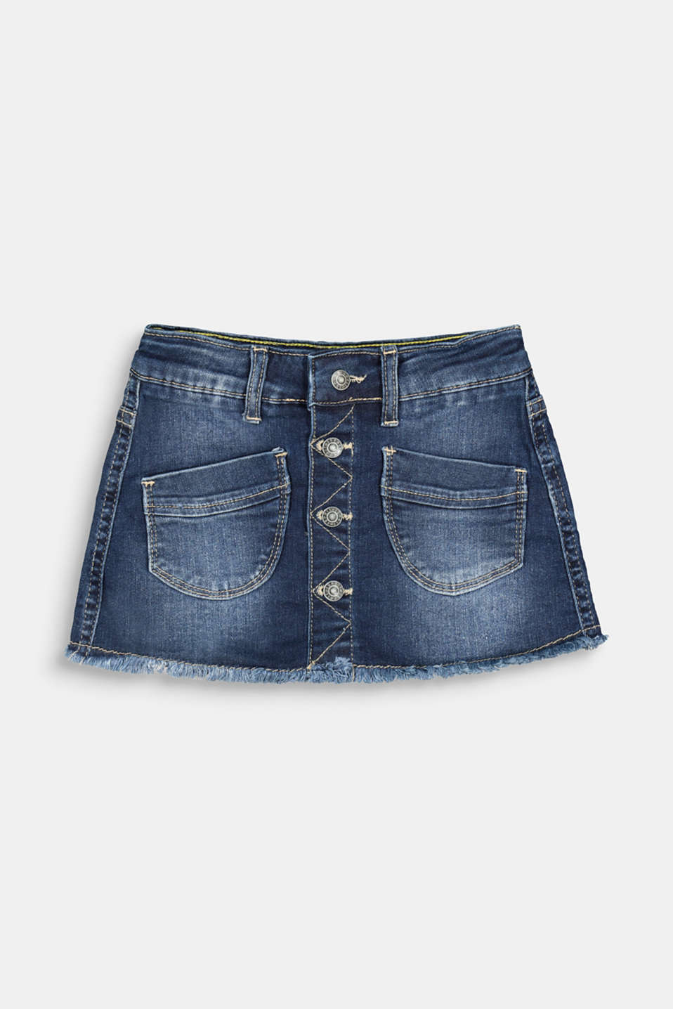 Esprit - In materiale riciclato: gonna in denim con abbottonatura