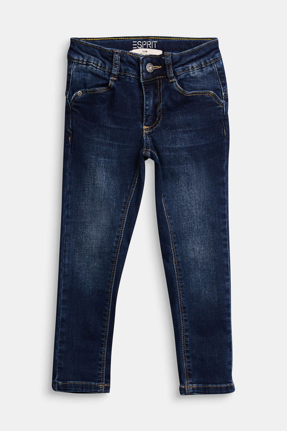 Esprit - Adjustable waistband jeans with recycled cotton