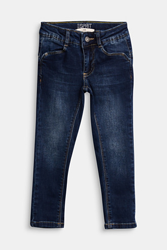Adjustable waistband jeans with recycled cotton