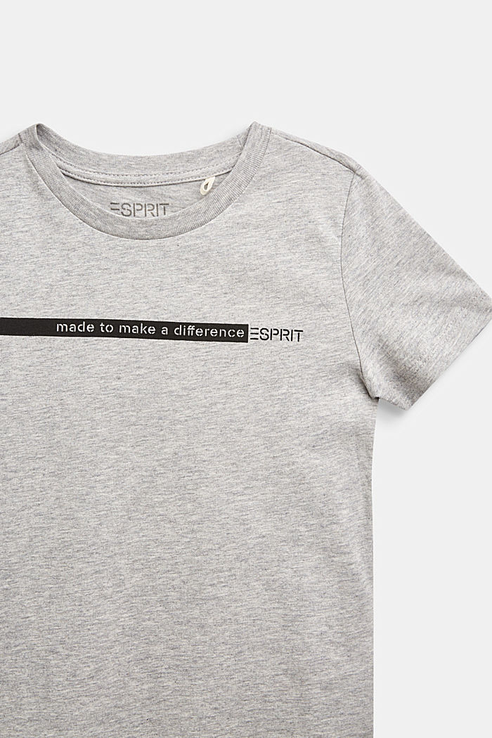 Recycled: print T-shirt made of cotton, PASTEL GREY, detail image number 2