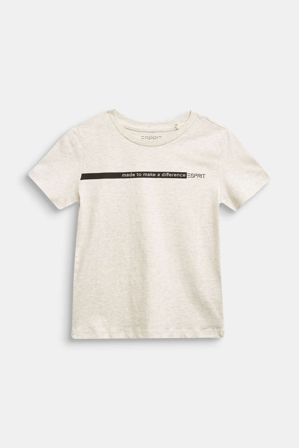 Esprit - Recycled: print T-shirt made of cotton