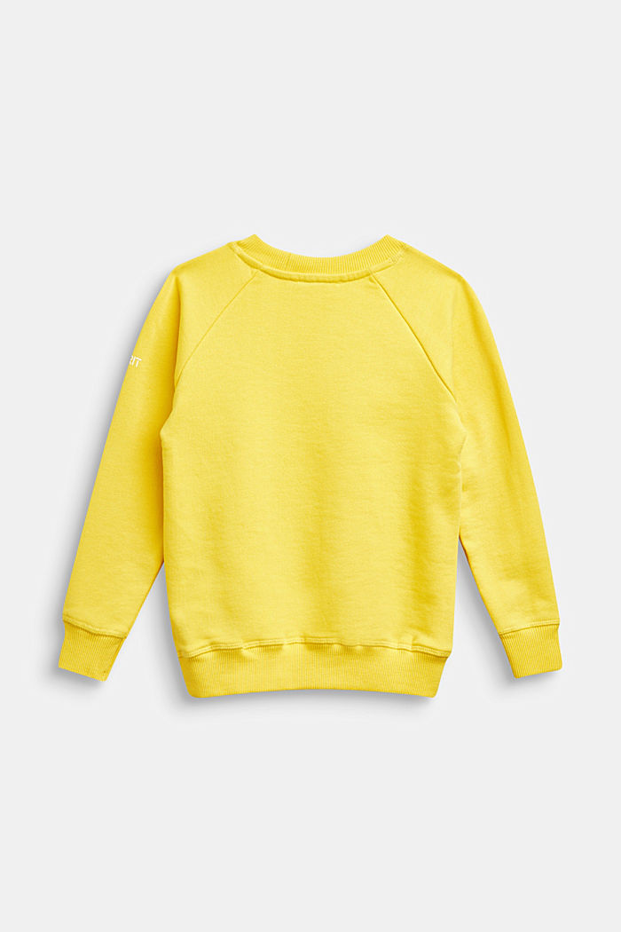 Basic sweatshirt made of 100% cotton, YELLOW, detail image number 1