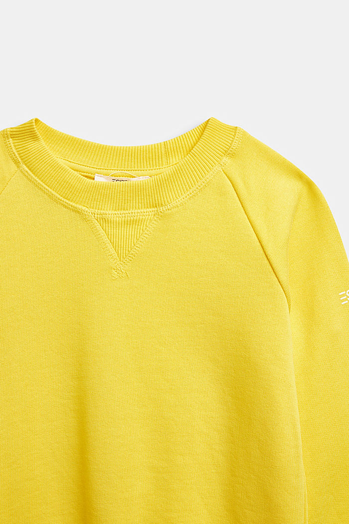 Basic sweatshirt made of 100% cotton, YELLOW, detail image number 2