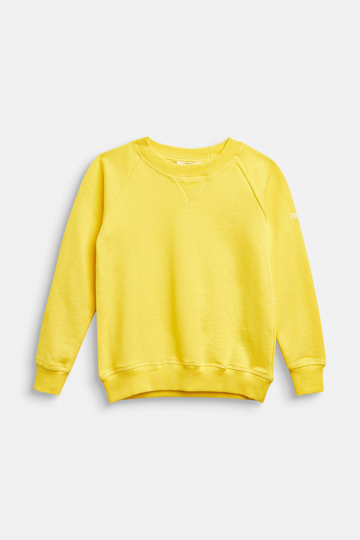Basic sweatshirt made of 100% cotton, YELLOW, detail image number 0