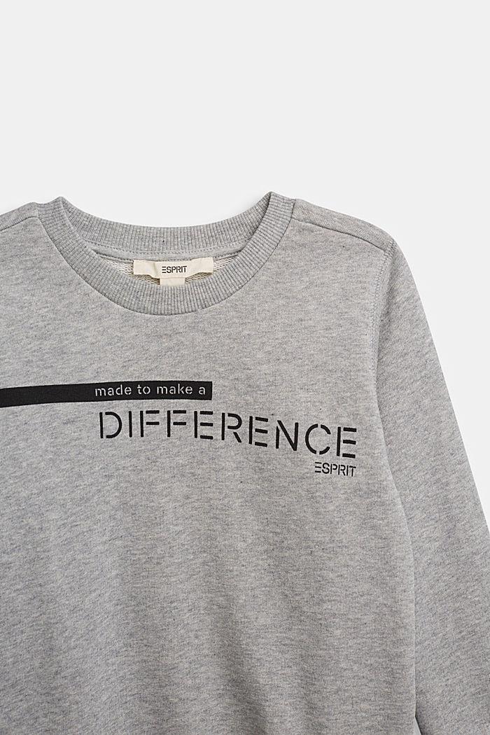 Recycled: sweatshirt in 100% cotton, PASTEL GREY, detail image number 2