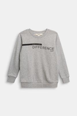 Recycled: sweatshirt in 100% cotton, PASTEL GREY, detail