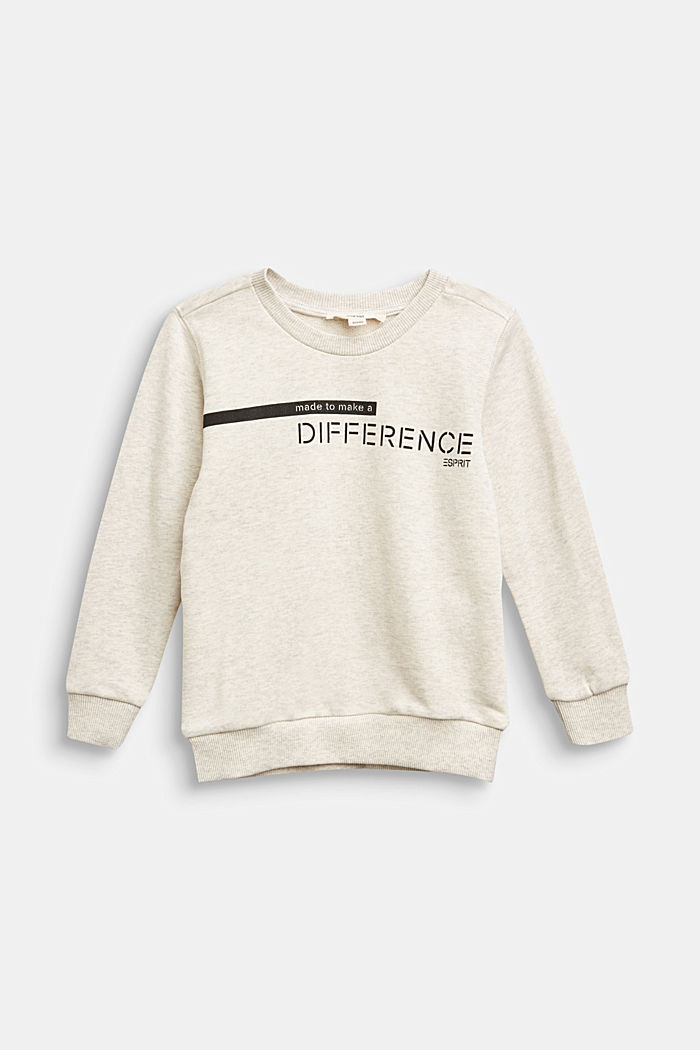 Recycled: sweatshirt in 100% cotton, OFF WHITE, overview