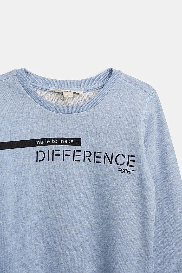 Recycelt: Sweatshirt aus 100% Baumwolle, PASTEL BLUE, detail image number 2