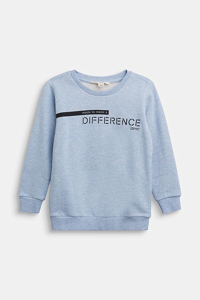 Recycelt: Sweatshirt aus 100% Baumwolle, PASTEL BLUE, detail image number 0