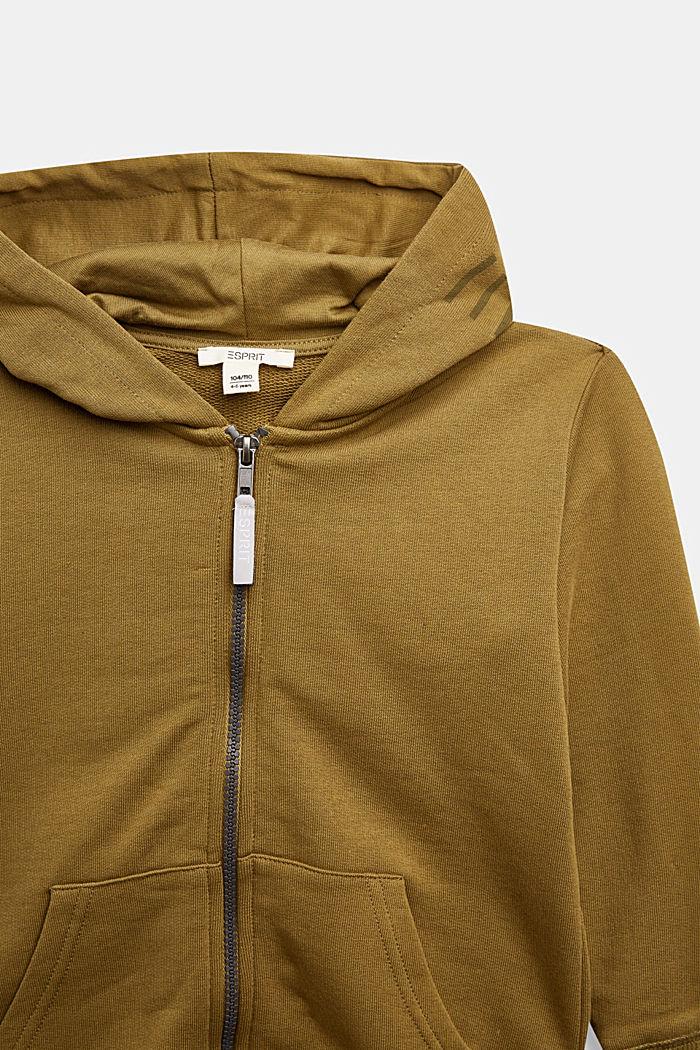 Sweatshirts cardigan, OLIVE, detail image number 2