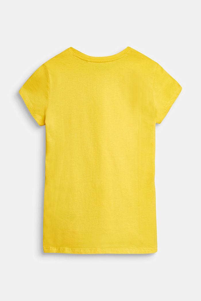 Logo print T-shirt, YELLOW, detail image number 1